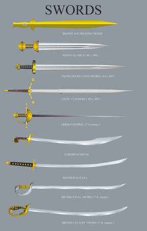 Vector - Various Sword Styles Stock Illustratie