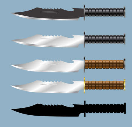 Vector - Military Bowie Dagger Knife  イラスト・ベクター素材