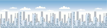 Vector - Skyline of Cityscape  pan