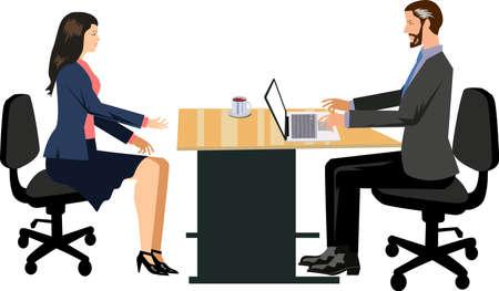 Vetor - Job Interview Illustration Stock Illustratie