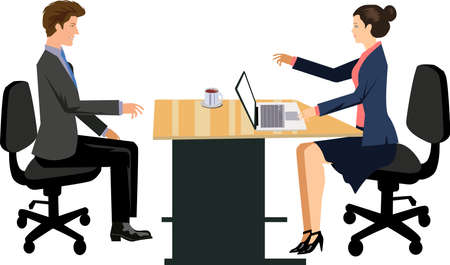 Vector - Job Interview Illustration