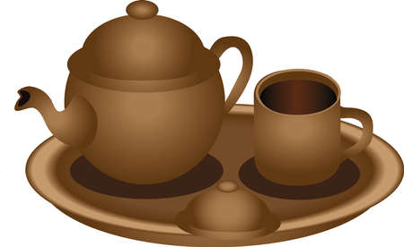 Vector - Teh Poci , Traditional Tea Set