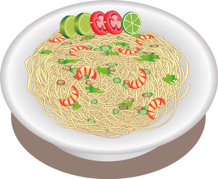 Vector - Mie Goreng, Indonesian Fried Noodle