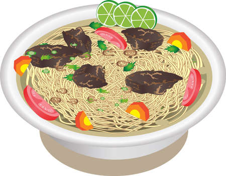 Vector - Mie Rebus, Indonesian Boiled Noodle
