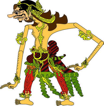 Wayang Burisrawa  Character, Indonesian Traditional Shadow Puppet - Vector Illustration