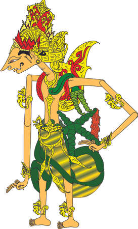 Wayang Rama Character, Indonesian Traditional Shadow Puppet - Vector Illustration