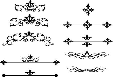 decorative design 5 ,Vintage  frame border tattoo floral ornament leaf scroll engraved retro flower pattern tattoo black and white filigree calligraphic vector heraldic swirl -Vector Illustration