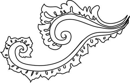 decorative design 7 ,Vintage  frame border tattoo floral ornament leaf scroll engraved retro flower pattern tattoo black and white filigree calligraphic vector heraldic swirl -Vector