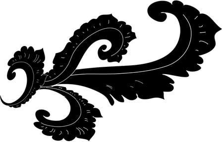 decorative design 8 ,Vintage  frame border tattoo floral ornament leaf scroll engraved retro flower pattern tattoo black and white filigree calligraphic vector heraldic swirl -Vector Illustration