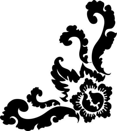 decorative design 10 ,Vintage  frame border tattoo floral ornament leaf scroll engraved retro flower pattern tattoo black and white filigree calligraphic vector heraldic swirl -Vector Illustration