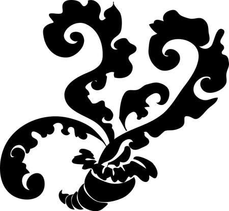 decorative design 12 ,Vintage  frame border tattoo floral ornament leaf scroll engraved retro flower pattern tattoo black and white filigree calligraphic vector heraldic swirl -Vector