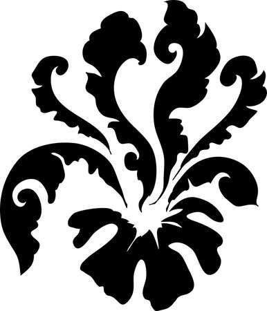 decorative design 13 ,Vintage  frame border tattoo floral ornament leaf scroll engraved retro flower pattern tattoo black and white filigree calligraphic vector heraldic swirl -Vector