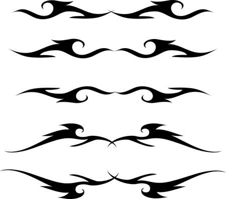 decorative design 16 ,Vintage  frame border tattoo floral ornament leaf scroll engraved retro flower pattern tattoo black and white filigree calligraphic vector heraldic swirl -Vector Illustration