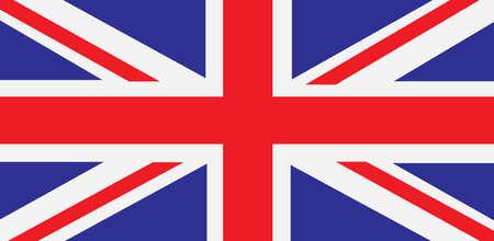 British union jack flag , United kingdom symbol , UK Band - Vector