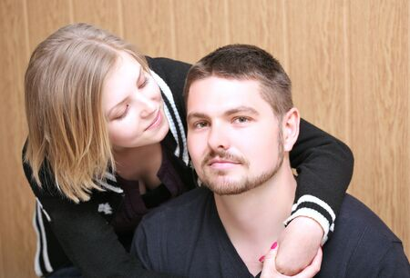 Close up of a young couple. photo