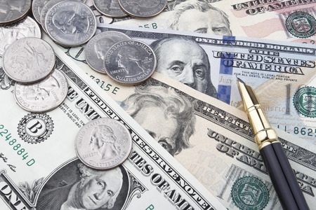 usd: US Dollar (USD) banknotes and coins.