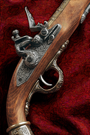 flintlock pistol: Souvenir copy of an old musket