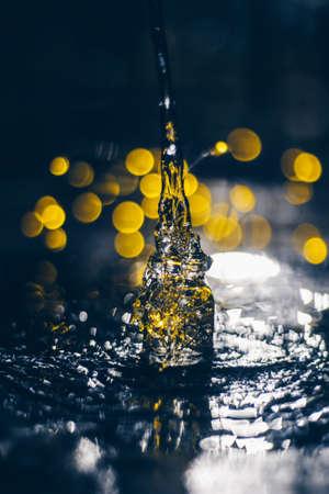 Splash photo Stockfoto