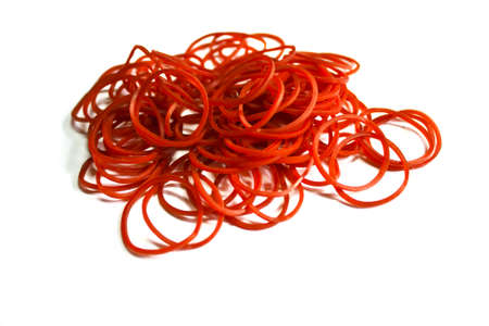 elastic band: Red elastic band