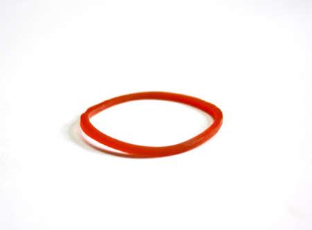 elastic band: Red elastic band
