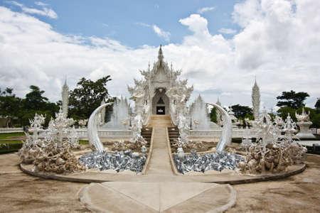 white temple in chiangrai Stock Photo