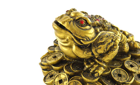 Chinese Feng Shui lucky money frog for good luck and riches  photo