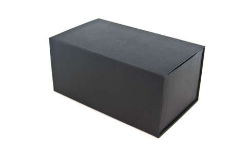 black box on white isolated photo