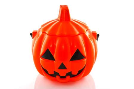 Halloween pumpkin isolated on white photo