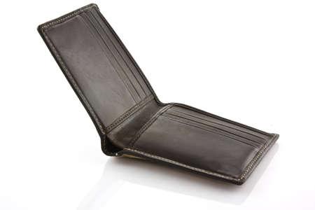 wallet on white background Stock Photo