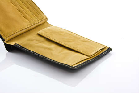 wallet on white isolated photo