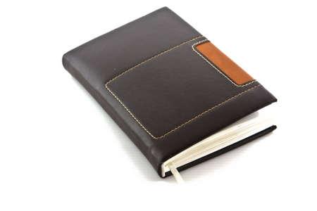 diary isolated on white background  photo