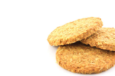 biscuits isolated on white background photo