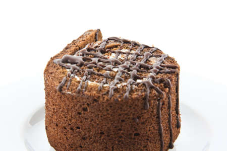 roll chocolate cake  photo