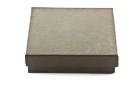 brown box on white isolated photo