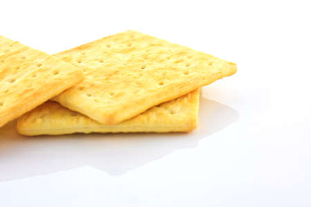 biscuit on white background  Stock Photo - 12921102