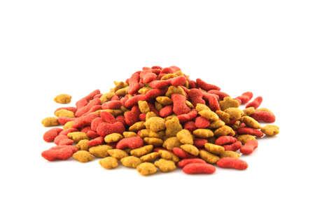 pet food isolated on white  photo