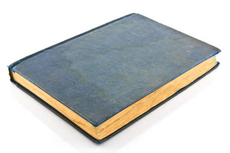 The ancient book on white background  photo