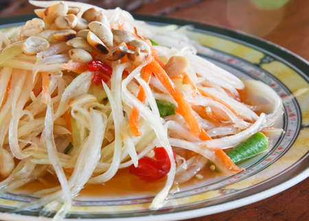 papaya salad thai food photo