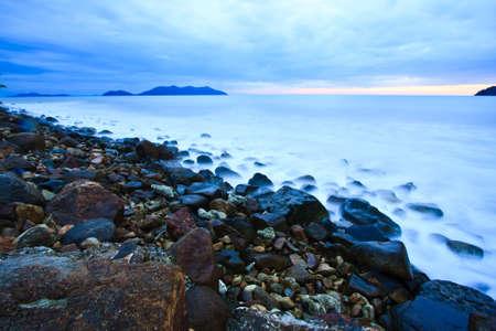 beach in tropic on sunset Stock Photo - 12921416
