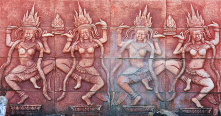 Ancient brick carving background Stock Photo - 12993291