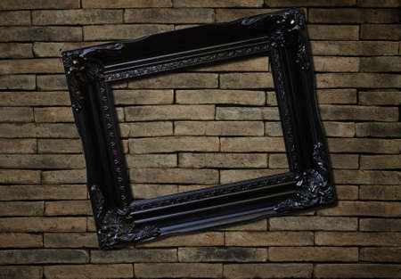 picture frame on brick wall background Stock Photo - 13294751