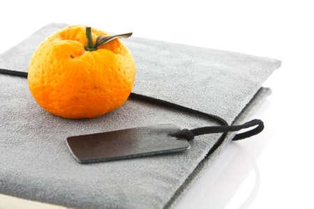 diary book and orange Stock Photo - 13888827