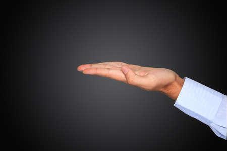 Human hand isolated photo