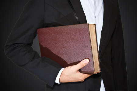 Businessman and diarybook photo