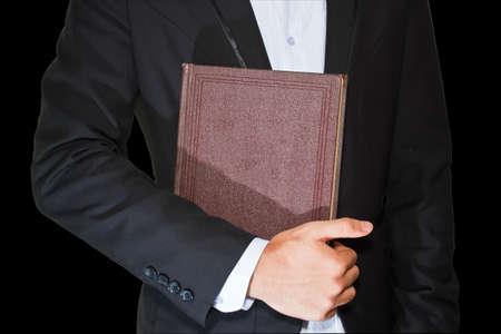 Businessman and diarybook Stock Photo