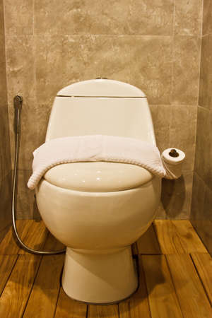 Toilet in the modern bathroom  photo