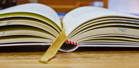 Education book on table in library  photo