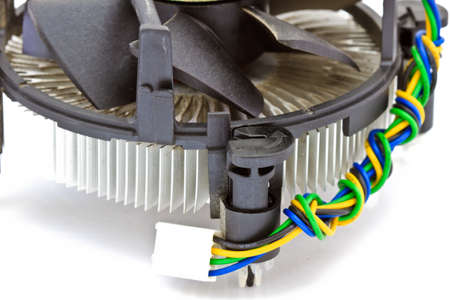 CPU cooler isolated  photo