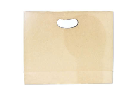 paper bag isolated photo