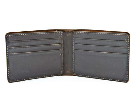 empty wallet: wallet on white isolated